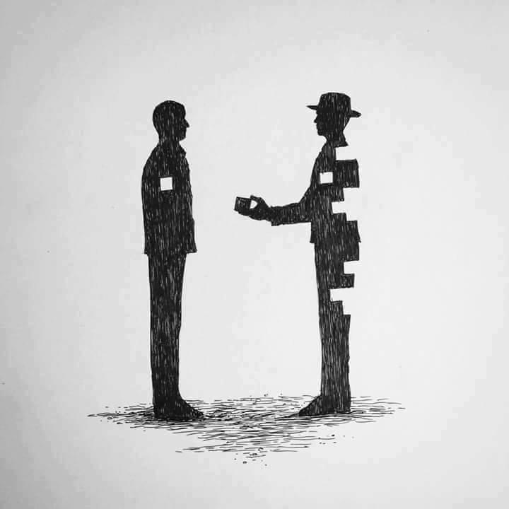 Метафорический рисунок, изображающий альтруизм