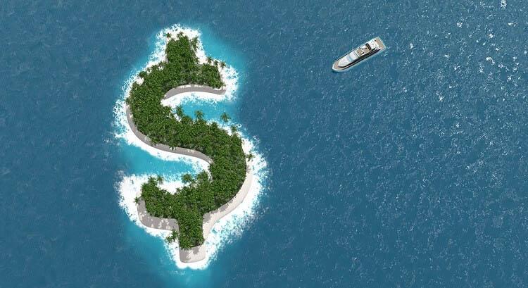 Остров в виде денежного знака